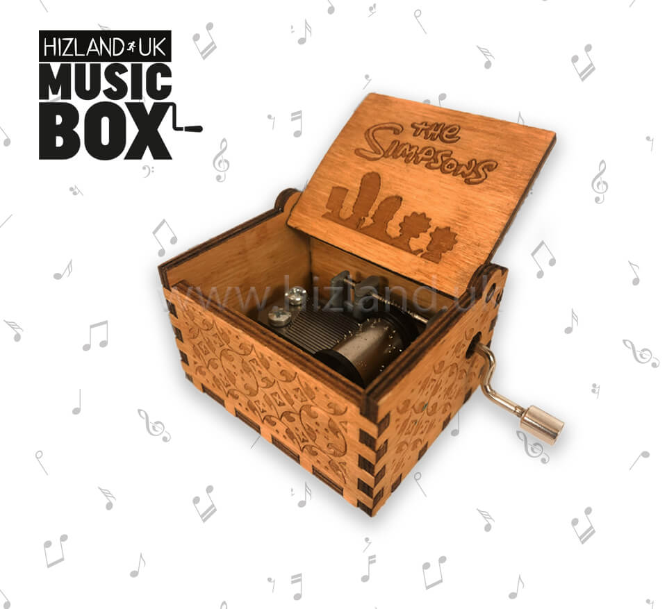 The Simpsons Music Box Engraved Wooden