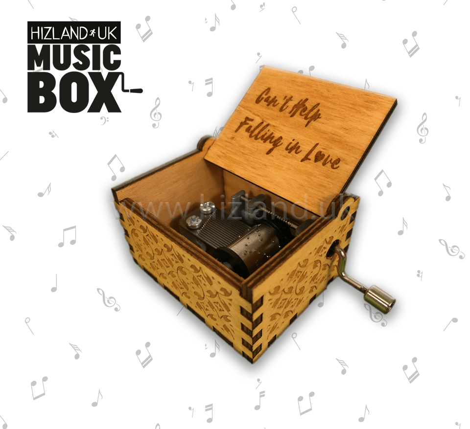 Cant Help Falling in Love Wooden Music Box