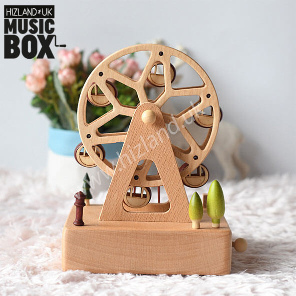 Wooden Ferris Wheel Music Box | Musical Carousels
