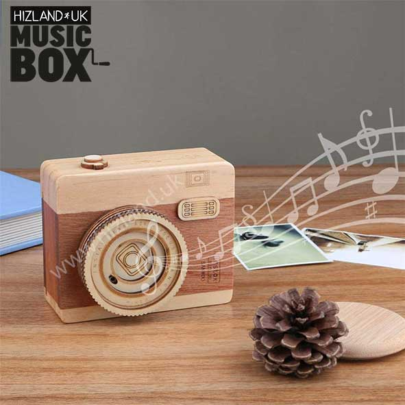 Kids Music Box | Mini Music Box | Wooden Camera Music Box